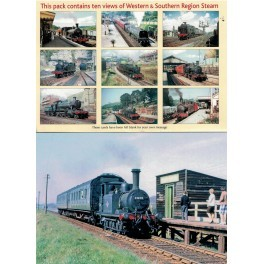 Western & Southern Region Steam Set Of 10 Blank Cards Pack 2