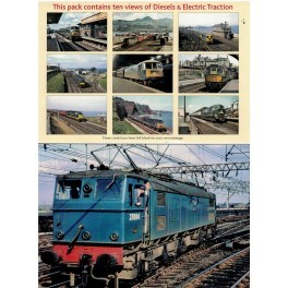 Diesels & Electric Traction Set Of 10 Blank Cards Pack 6