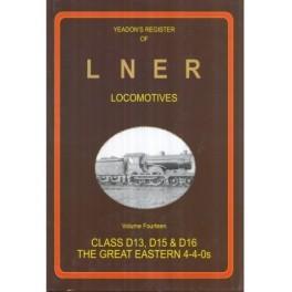Yeadon Register of LNER vol 14